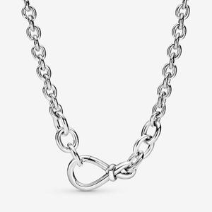 💝Pandora Chunky Infinity Knot Chain Necklace 19.7